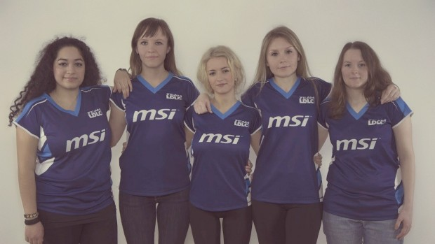 Michaela med sit tidligere hold, Team LDLC.
