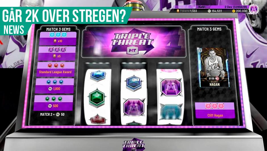 2K reklamerer for gambling i spil