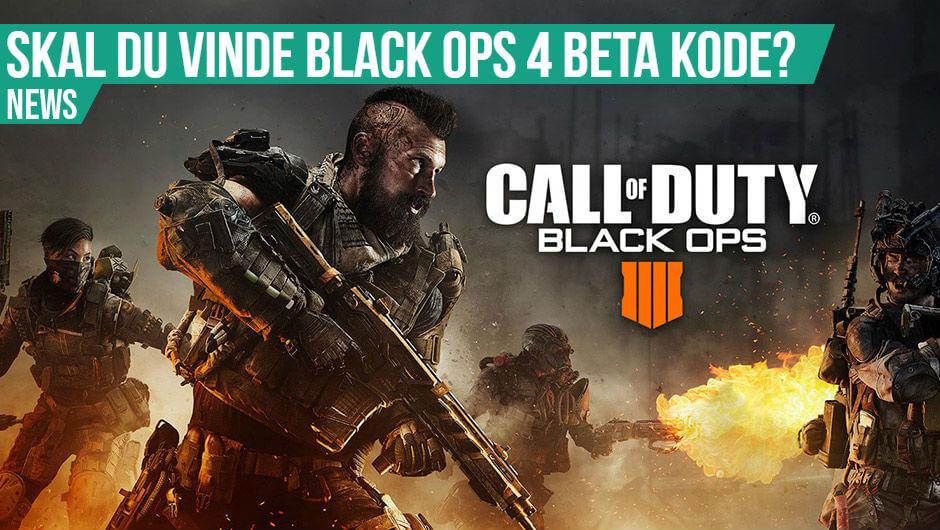 Vind Black Ops 4 beta kode