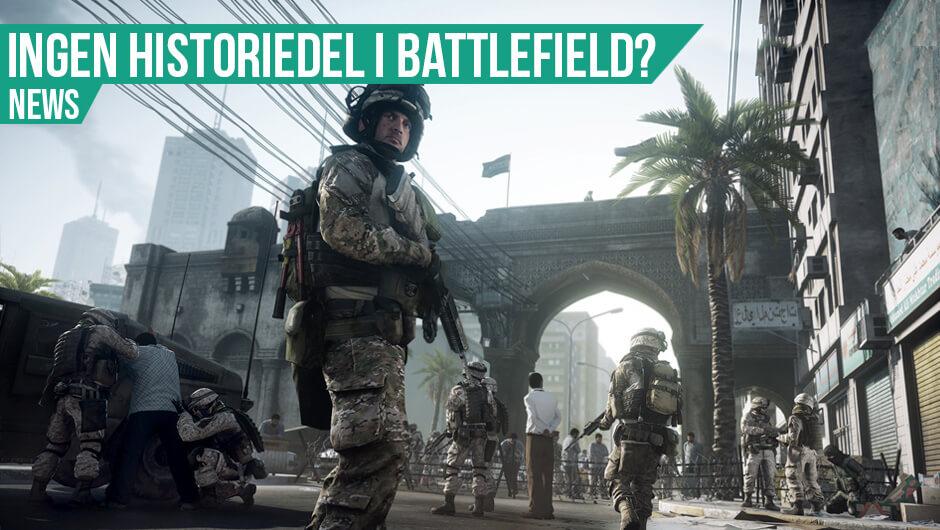 Battlefield uden historie?