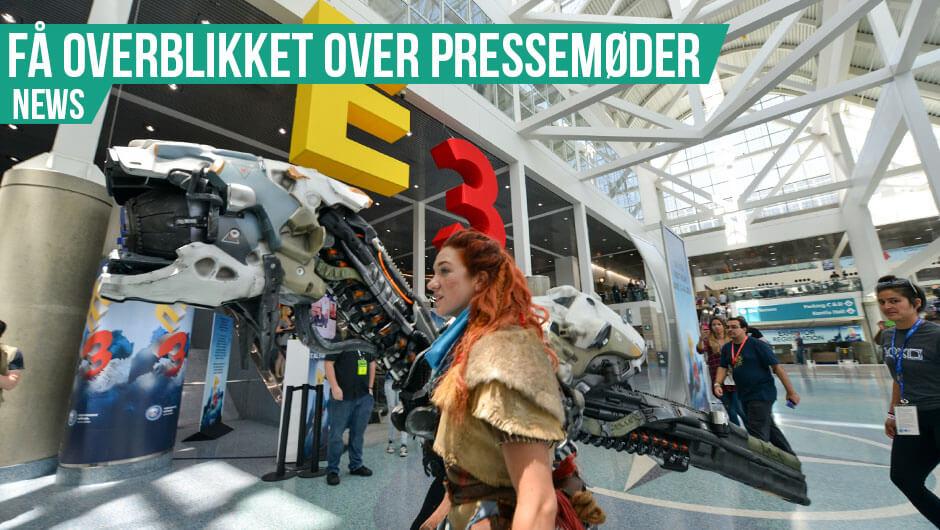 E3: Overblik over pressekonferencer