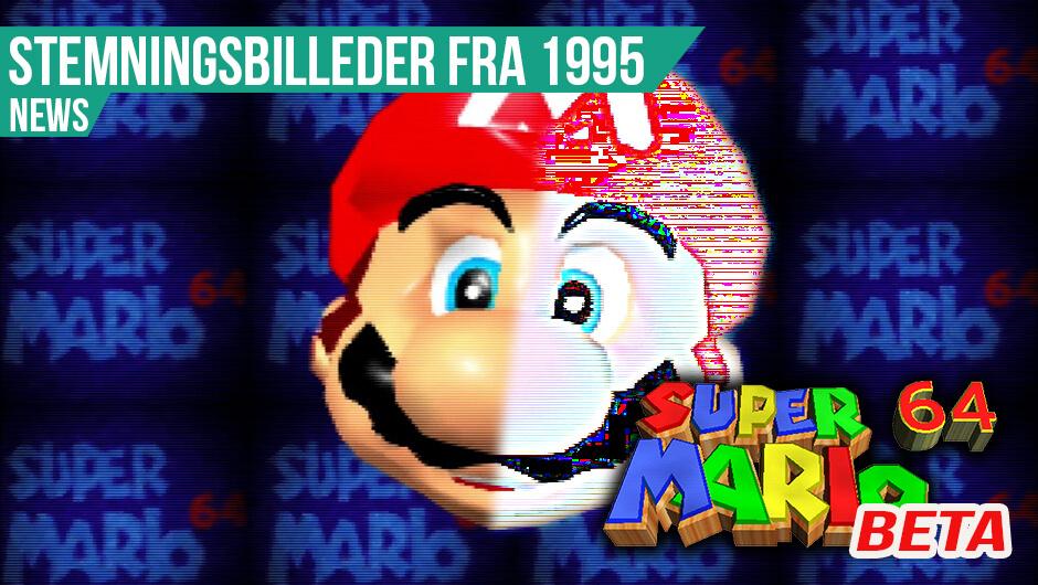 Tidligt stadie af Mario 64 dukker op