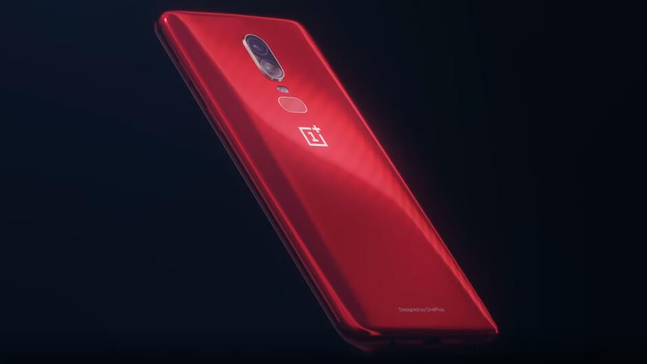 Rød OnePlus 6