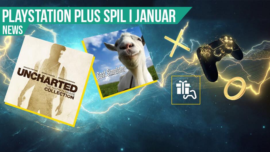 Spil Uncharted, Goat Simulator med PS+